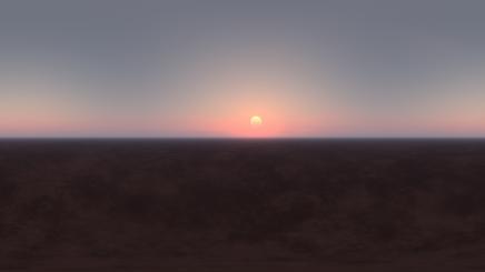 HDRI Desert Eclipse