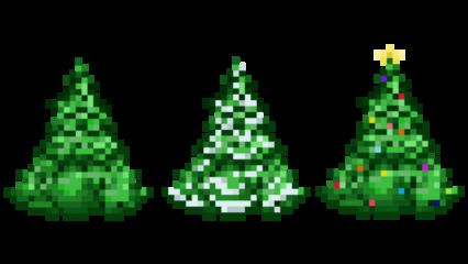 Pixel Christmas Tree HD 16K