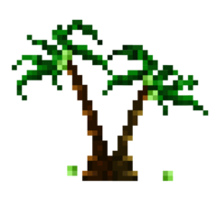 Pixel Coconut Tree HD 16K