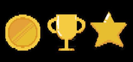 Pixel Coin Trophy HD 16K