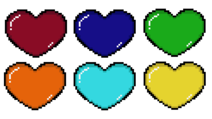 Pixel Heart Colorful HD 16K