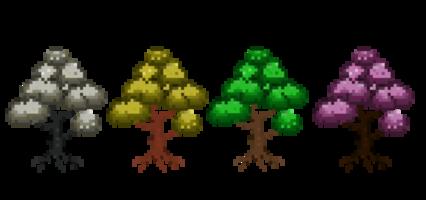 Pixel Tree Season HD 16K