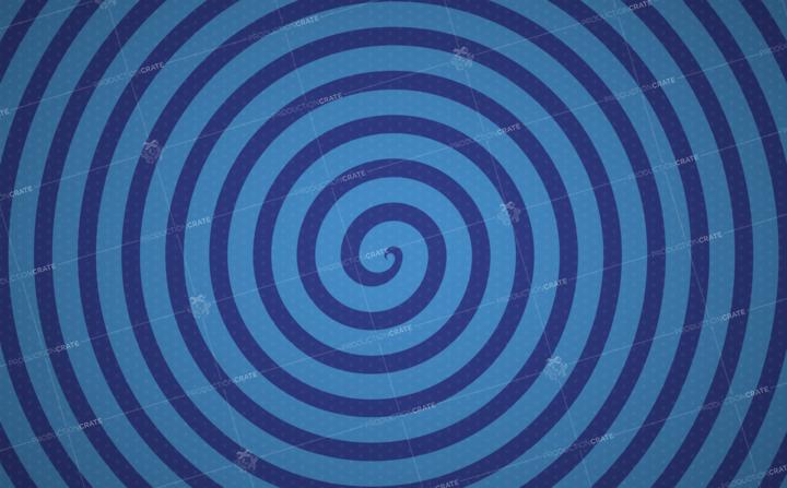 Popart Blue Spiral Bg