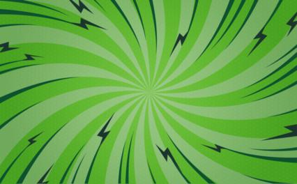 Popart Green Twist Bg