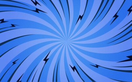Popart Blue Twist Bg HD 14K