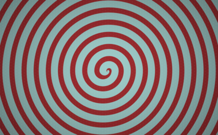 Popart Redblue Spiral Bg