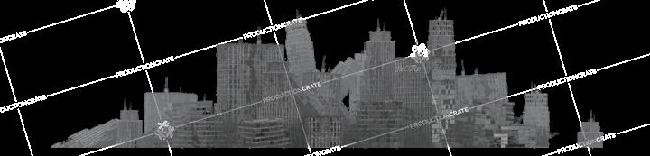 Apocalyptic City Backdrop 8 Overcast