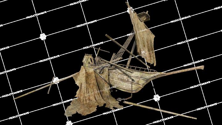Shipwreck On Beach 03