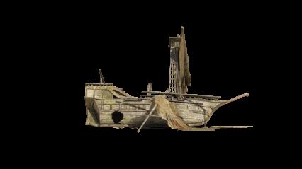 Shipwreck On Beach HD 8K