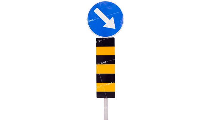 Signs Round About Mandatory Direction HD 7K
