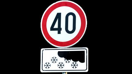 Signs Speed In Winter HD 7K