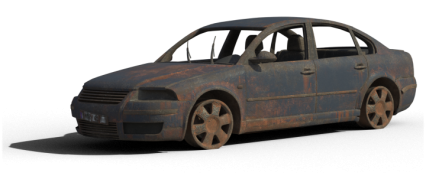 Damaged Car HD 2K
