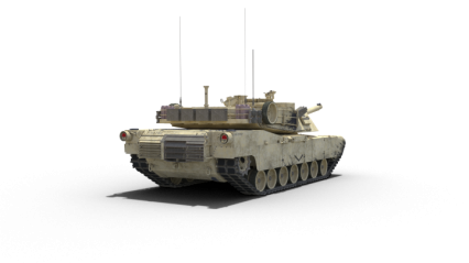 Stationary Tank Facing Away HD 3K