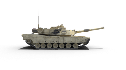 Stationary Tank Facing To Side HD 3K