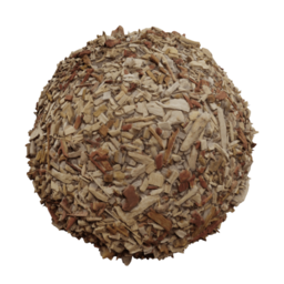 3D Material: Chipped Bark
