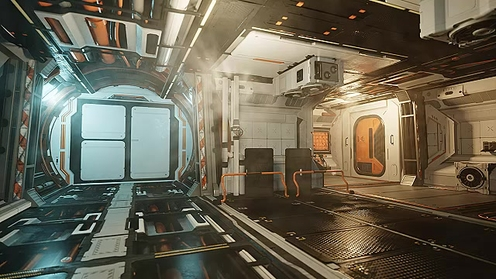 3D Model: Modular Space Corridors