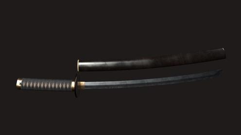 3D Model: Samurai Tanto