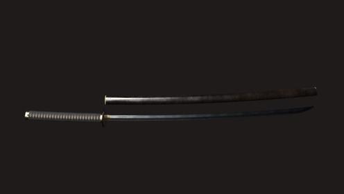 3D Model: Samurai Wakizashi