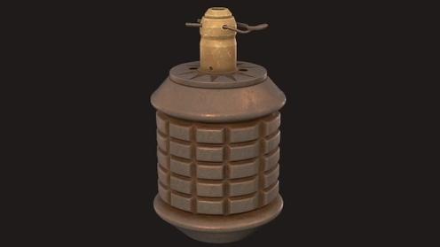 3D Model: Type 97 Grenade