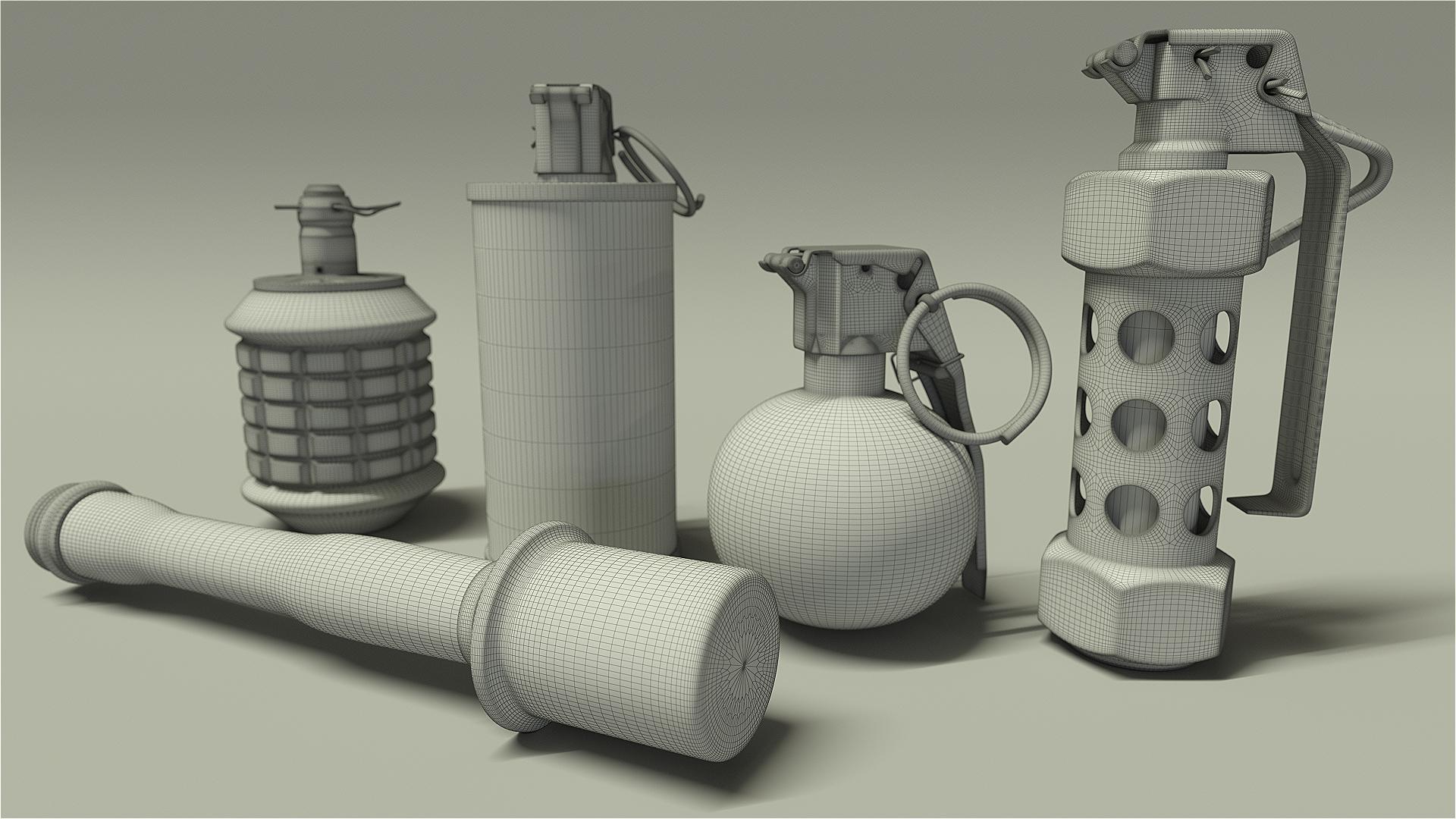 3D Model: Type 97 Grenade HD Render 2