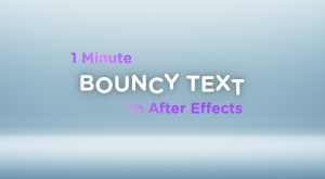 bouncy text per character tutorial