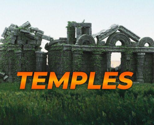 Download Ancient Temple Matte-Painting Assets