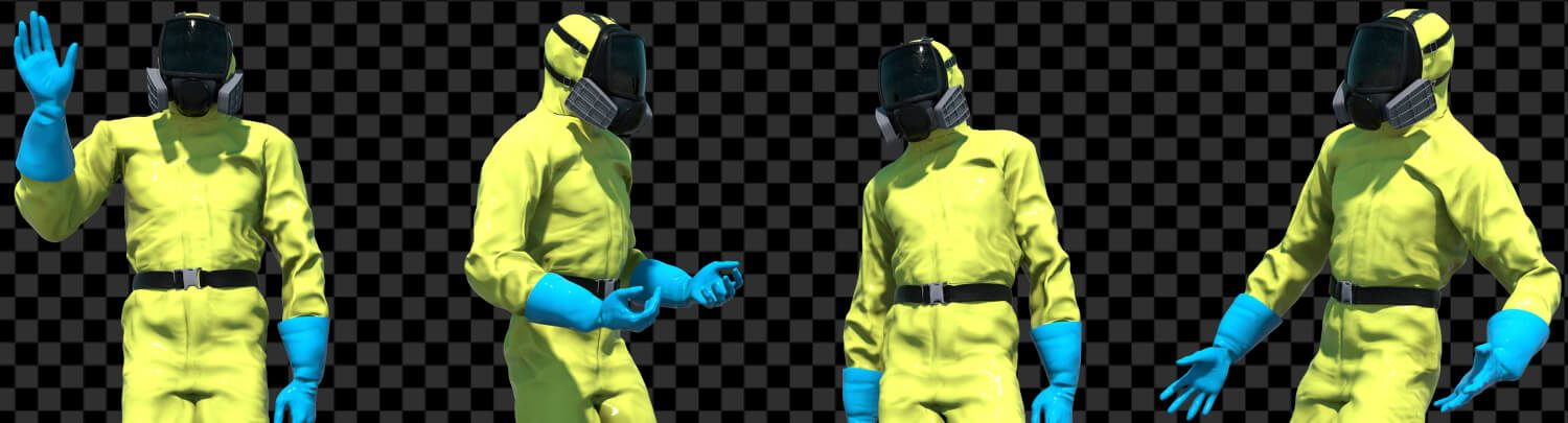 hazmat suit, apocalyptic characters, download