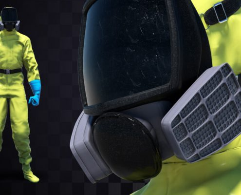 HAZMAT SUIT 3D MODEL FOR DOWNLOAD