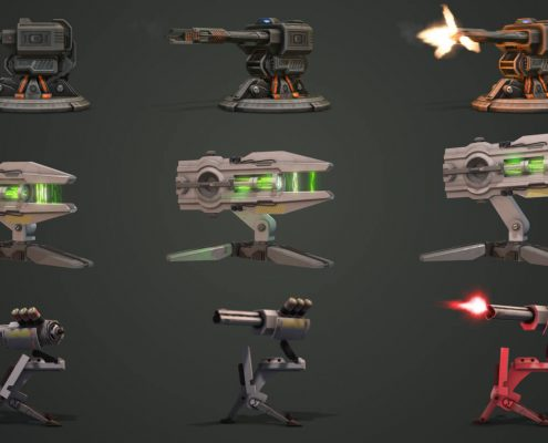 Scifi-Futuristic Gun 3d Models and Effects