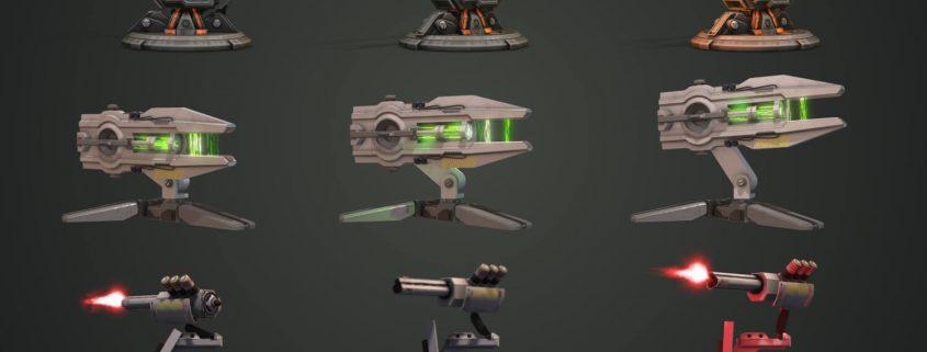Scifi-Futuristic Gun 3d Models and Effects