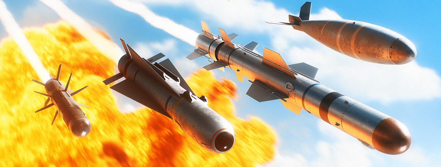Download Photorealistic Missile 3D Models