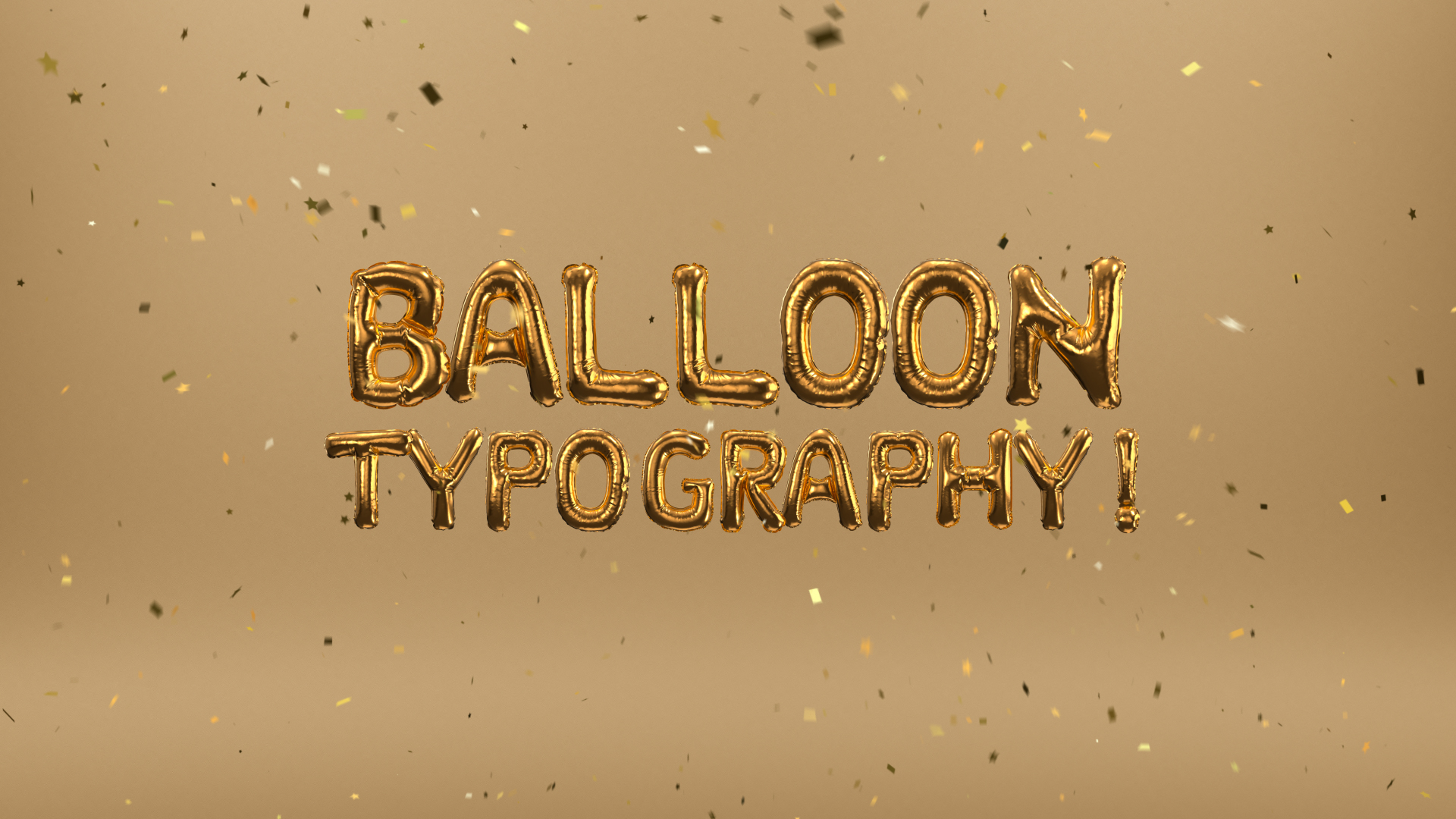 Animated Typography - Balloons