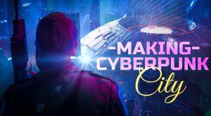 learn to make a cyberpunk city